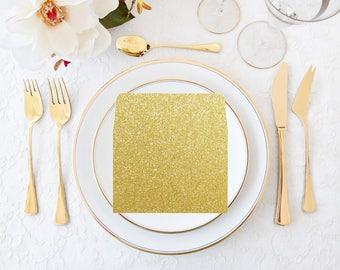 Glitter Gold Envelope Liner, Glitter Liner Square Flap Envelope, Wedding Invitation Envelope, RSVP Envelope Liner, Gold Glitter Liners Only