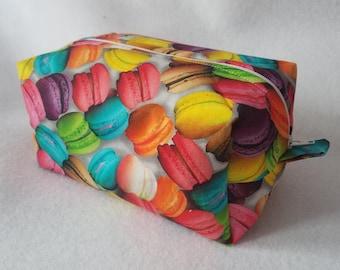 Rainbow Macarons Box Zipper Pouch