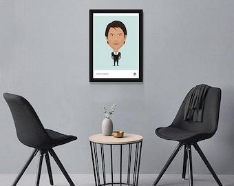 Antonio Conte Illustrated Poster Print | A6 A5 A4 A3