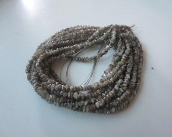 Rough Diamonds - Natural Raw Uncut Diamond Beads - Light Brown Diamond Beads - 2 mm To 2.50 mm - Half or Full strand