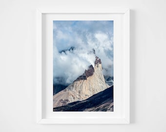 Mountain photo - Patagonia print - Chile landscape - Oversized wall art - Bold art -  Nature art print - Modern travel photo print - 24x36