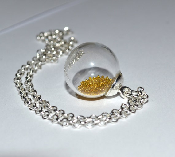 Glass Ball Necklace - Gold