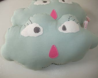 Handmade fabric cloud shaped cushion