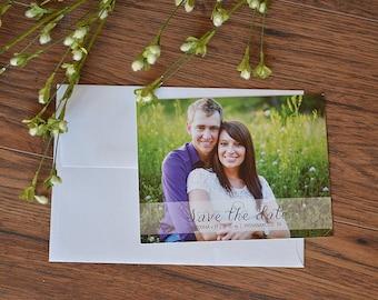 Photo Save the Date, save the date postcard, custom photo postcard, wedding photo invitation