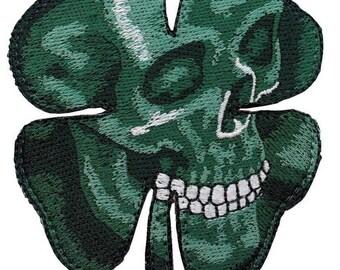 Hook & Loop - Skull Morale Clover Shamrock Tactical  Gear Patch