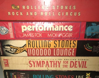 5 Rolling Stones Vhs