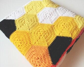 80's Baby Crochet blanket by Olivesandpickles