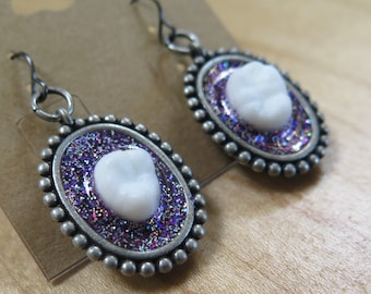 Shimmering Amethyst Earrings