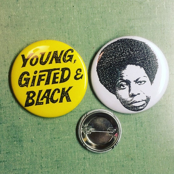 "Nina Simone 2.25"" Pin Set"