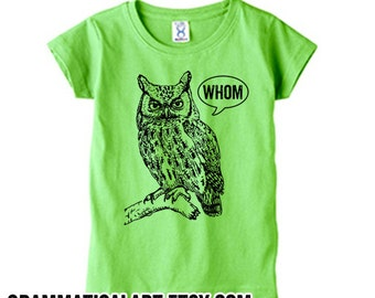 Baby Boy Clothes, Baby Girl Clothes, Nerdy Baby Shower Gifts, Baby Boy Gifts, Baby Girl Gifts, Owl Shirt, Toddler Tshirt, Funny Grammar Tee
