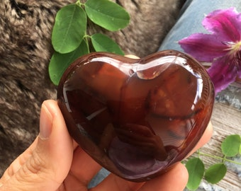 Large carnelian heart, carnelian Heart, protection stone, healing stone, love stone