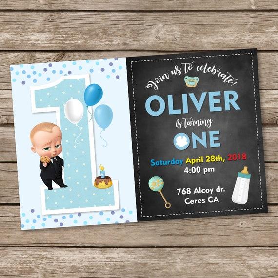 Boss Baby Birthday Invitation Boss Baby Party Invite Boss