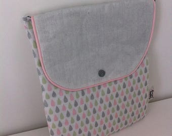 Protective padded tablet, fabric drops