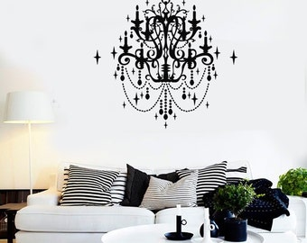 Wall Vinyl Decal Chandelier Cool Fashion Decor For Bedroom 2245di