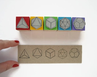 Platonic solids stamps. Polyhedra Stamps. Geometric stamp. Shape Stamps. Geometry stamps. Platonic solids. Polyhedra. Mathematics Stamps