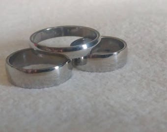 Stainless Steel plain smooth band