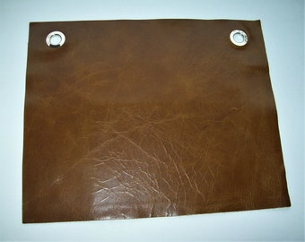 high sheen leather sample 9x11