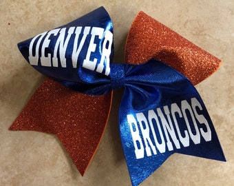 Denver Broncos Cheer bow - Broncos Gift - Broncos Girl