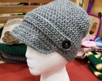 Handmade newsboy hat, smoke free home. Many sizes and colors available.