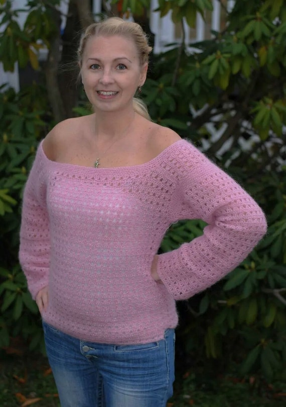 Patrón de suéter de ganchillo fácil