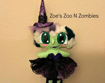 Handmade One of A Kind Large Eyed Witch Cloth Art Doll New School Style Bubble Eye Hallowe CFCOFGen