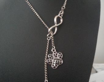 I <3 You Furever Infinity Paw Wrap Around Necklace
