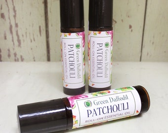 Patchouli Essential Oil Roll-On Aromatheraphy - Vegan - Green Daffodil