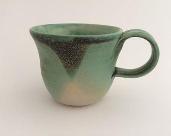 Small copper rust tea cup (#9)