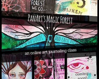 PanArt's Magic Forest - An Online Art Journaling Class
