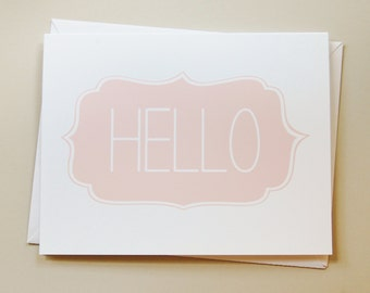 greeting card / blank card / note card / stationary / hello