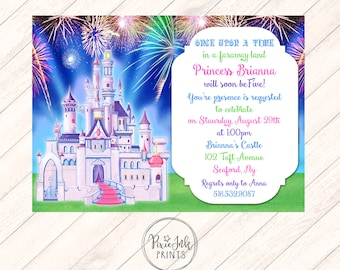 Castle Birthday Invitation, Princess Castle Birthday Invitation, Castle Birthday Party Printable, Princess Birthday Party Invitation