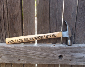 Valentines Day Gift For Him Personalized Hammer Building Memories Hammer Valentines Day Gift for Her Custom Gift First Valentines Day Gift