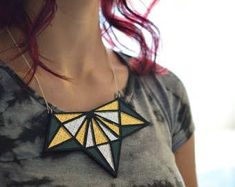 Andromeda Necklace - Lasercut Statement Necklace