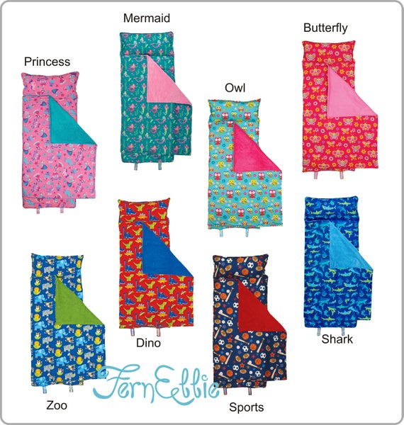Stephen Joseph All Over Print Personalized Nap Mats, Boys and Girls, Sleeping Bag, Personalization Included!