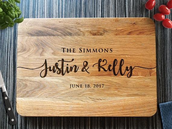 Personalized Cutting Board Wedding Gift Custom Bridal Shower