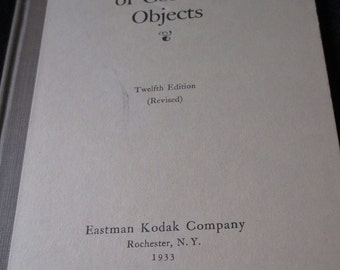 Vintage 1933 Eastman Kodak Company book - THe Photography of Colored Objects
