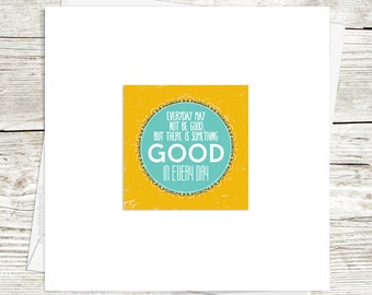 Gratitude card. Blank greeting cards. Quote card. Retro design. Friend Card. Positive quote card. Encouraging card. Positivity Card.