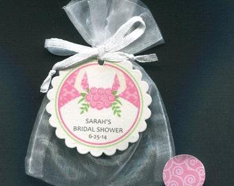 Bridal Shower Favors - Bridal Shower Candy Bags - Bridal Shower Bag - Shower Favor Bags - Wedding Favor - Bride - Pink - Organza Bag - 20