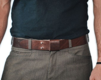 Everyday Belt - Handmade Leather - Brown