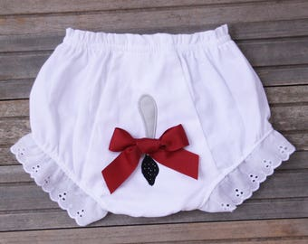 Alabama Bloomers, Elephant Tail Diaper Cover, Ruffled Diaper Cover