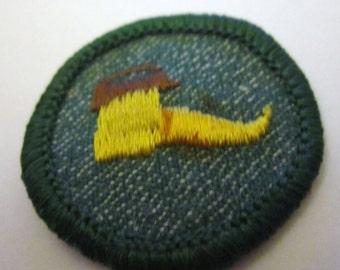"""Vintage 1950's Intermediate Girl Scout Badge """"Troop Dramatics"""""""
