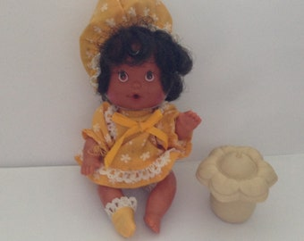 Vintage  Strawberry Shortcake  Baby Blueberry Muffin Doll  1980s 80s