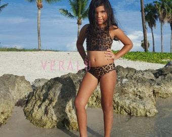 VERALU Little Diva Leopard swim bikini set