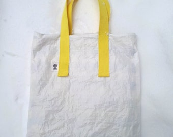 Reversible, Tote bag, Tarp Sheet, Construction cover, tarpaulin, life lasting, unique, original, Upcycled, Recycle