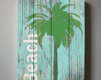 Beach Wall Art, Vintage Kids Beach Decor, Canvas Art , Boys Room Surf Decor , Beach Canvas art