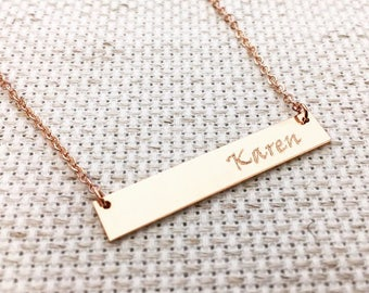 Same Day Shipping Til 3 p.m EST,Gold Fill, Rose Gold Fill,Sterling Silver,Personalized Necklace,Graduation gift,Wedding gift,custom necklace