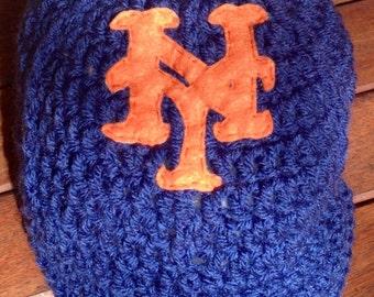 New York Mets baseball Cap, Baby Mets Cap, Mets Baby Hat, New York Mets Cap, Newborn Mets Hat, Baby Baseball Cap, Newborn Photo Prop, Baby