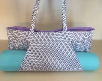100 Percent Cotton Fabric/Yoga Mat Tote Bag