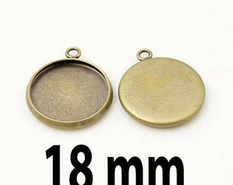 5 blank pendant tray (pr 18mm) within 15 days