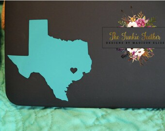 State Heart Decal/Sticker. (Heart of Texas)
